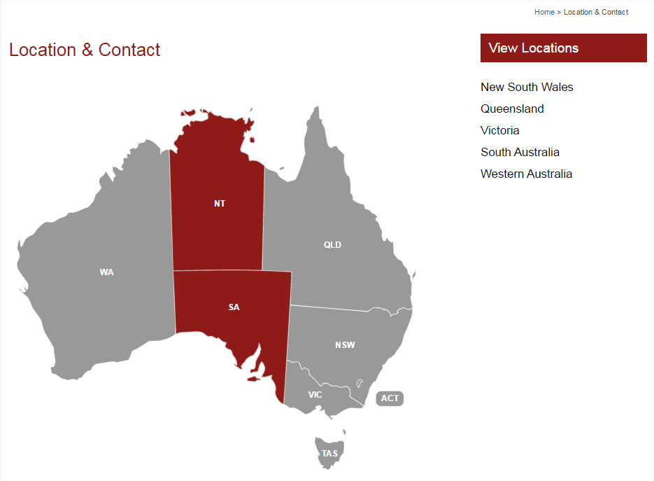 commercial Australia interactive map usage