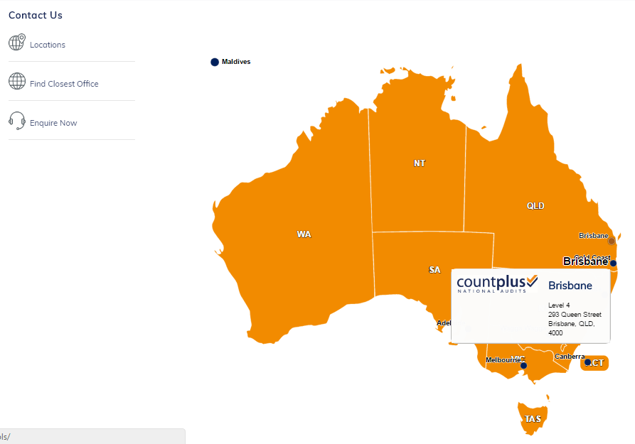interactive map of Australia
