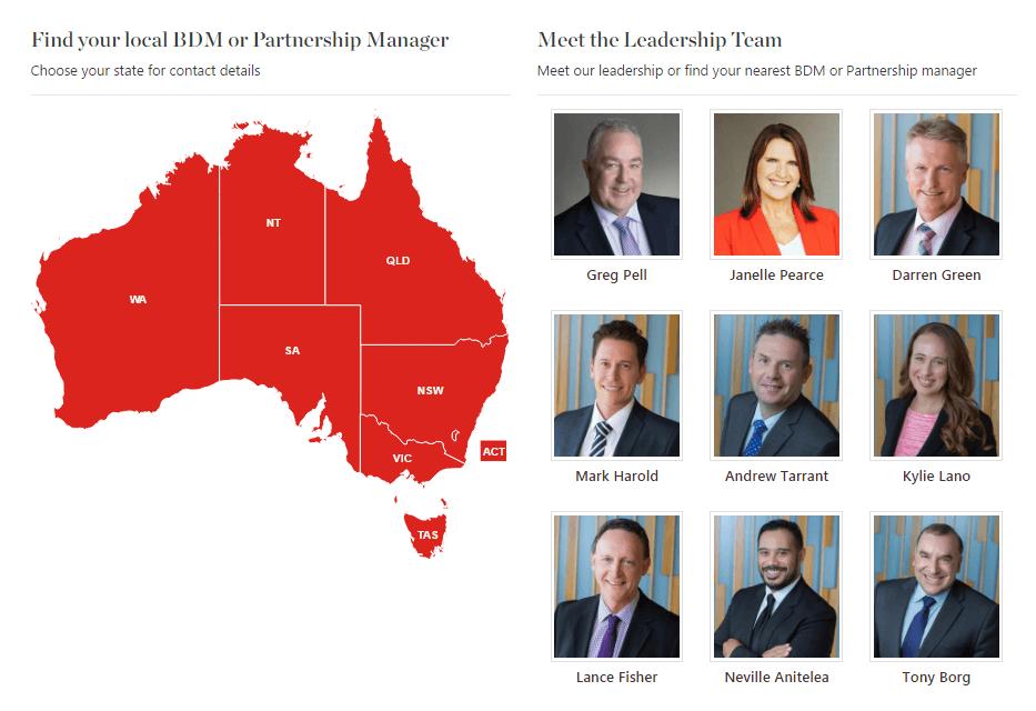 Australia interactive map