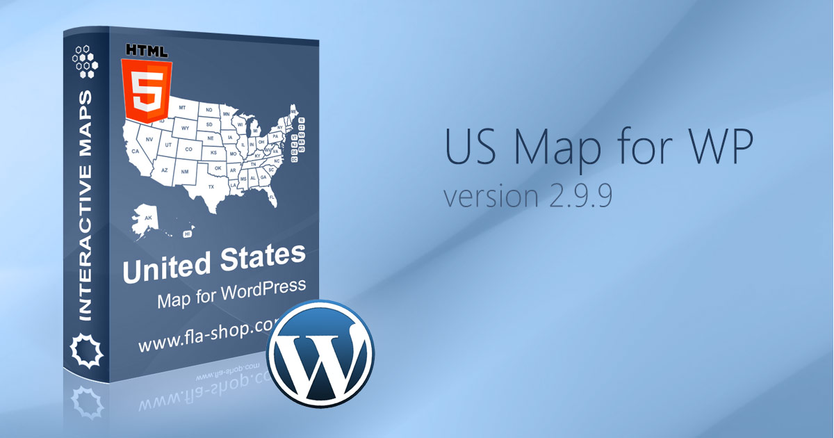 U.S. map for WordPress