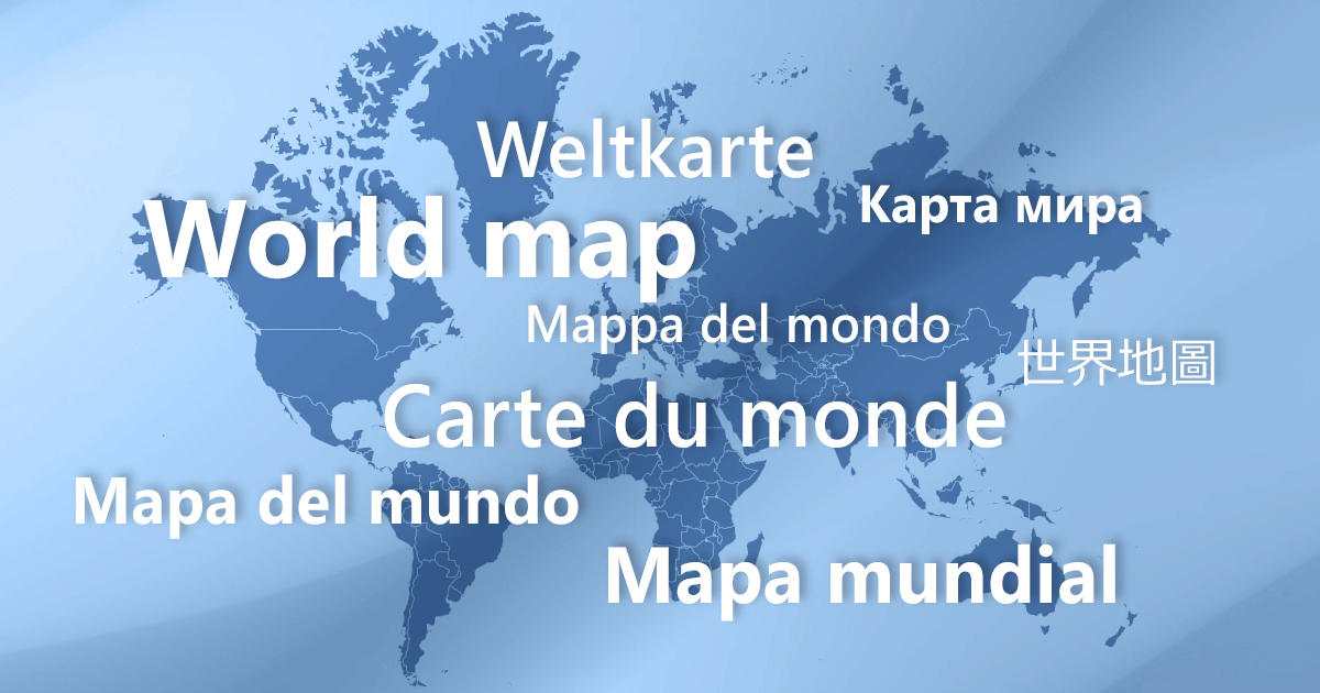 World Map with Localized Country Names