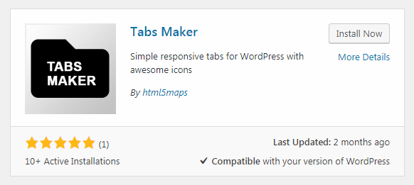 Tabs maker for WordPress
