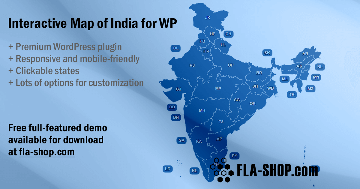 Map of India for WordPress