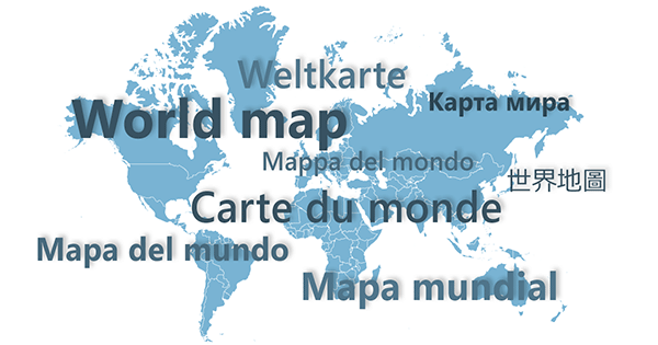 Multilingual World Map