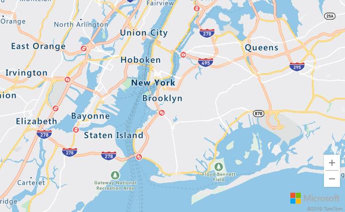 Screenshot of Azure Maps as an alternative to Google Maps