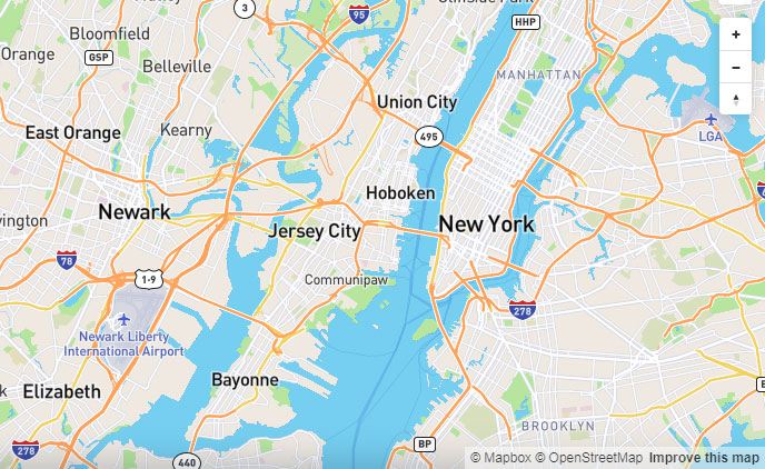 Screenshot of MapBox as an alternative to Google Maps