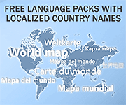 Free language packs for World map