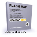 Interactive Flash Map US States Gold 2.0