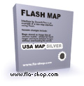Flash Map US States Silver (with FLA source) 1.5