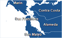 Map of Bay area