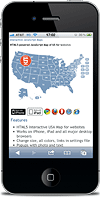 JavaScript Map Of United States Without JQuery Interactive HTML - Html5 us map