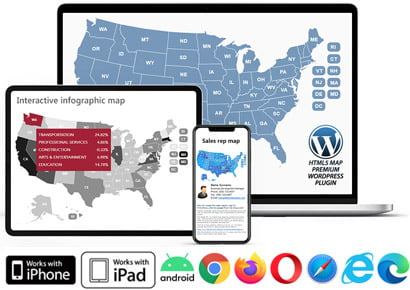 Html5 Interactive Us Map Interactive Maps for web, JavaScript, HTML5   Easy setup and