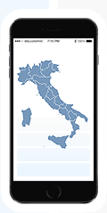 Responsive Italy map on mobile
