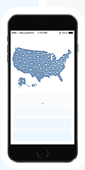 Responsive United States map on mobile