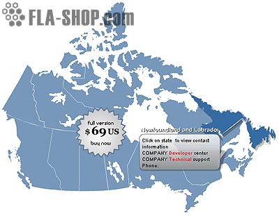 Canada Flash Map Locator for websites
