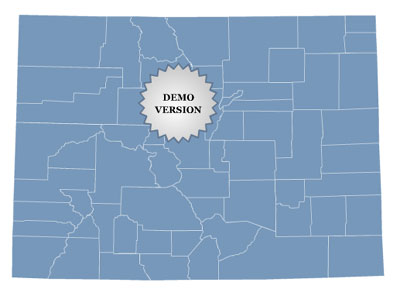 Locator Map of Colorado for sites