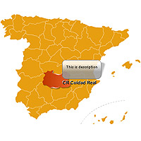 Click to view Spain Provinces Map Locator 3.0 screenshot