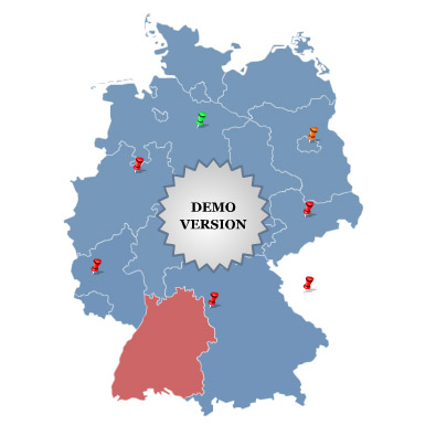 Click-and-Drag Map of Germany screenshot