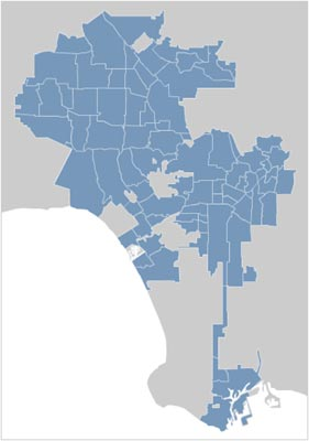 Los Angeles City Map Locator