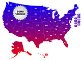 USA Gradient Map Locator