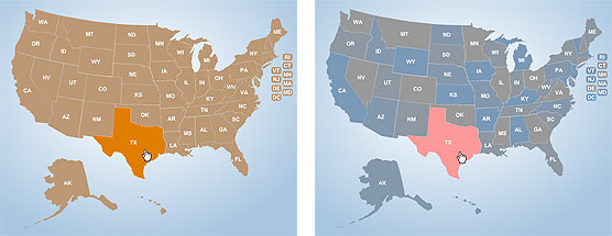 US Interactive Flash Maps. Free download sample and demo ...